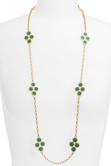 Tory Burch Cole Enamel Clover Necklace - Lyst