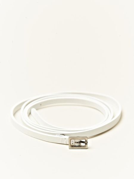 dries noten womens leather belt in white lyst