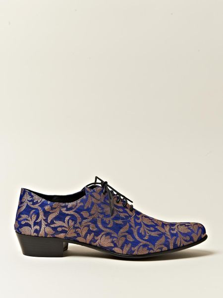 Haider Ackermann Womens Babouche Style Oxford Shoes In Blue | Lyst