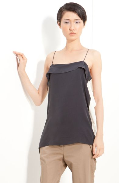 3.1 Phillip Lim Silk Top in Black (soft black/ white) - Lyst