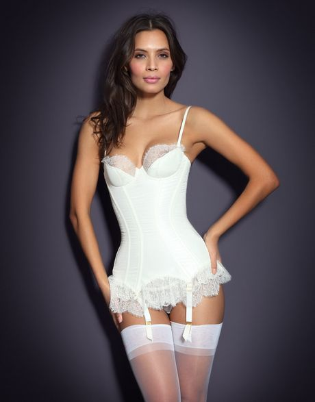Agent Provocateur Honesty Corset in White (ivory) - Lyst