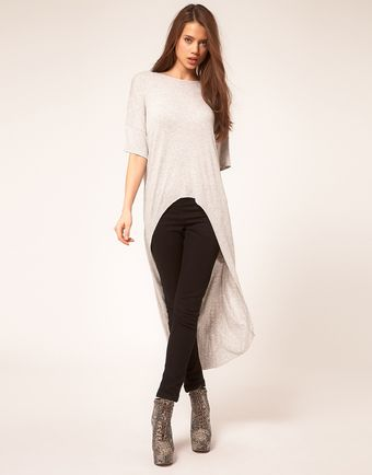ASOS Collection Asos Top with Slouchy Extreme Dip Back - Lyst