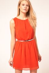 ASOS Collection Asos Skater Dress with Belt - Lyst