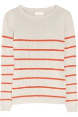 Chinti And Parker Striped Knitted Organic Cotton Sweater - Lyst
