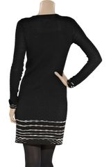 M Missoni Merino WoolBlend Sweater Dress in Black - Lyst