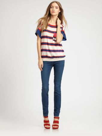 Marc By Marc Jacobs Sonja Stripe Sweater - Lyst