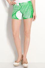 Milly Printed Shorts - Lyst
