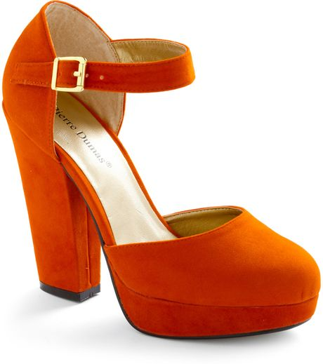 Modcloth Trip To The Tropics Heel in Orange - Lyst