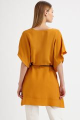 Piazza Sempione Belted Top in Yellow (white) - Lyst