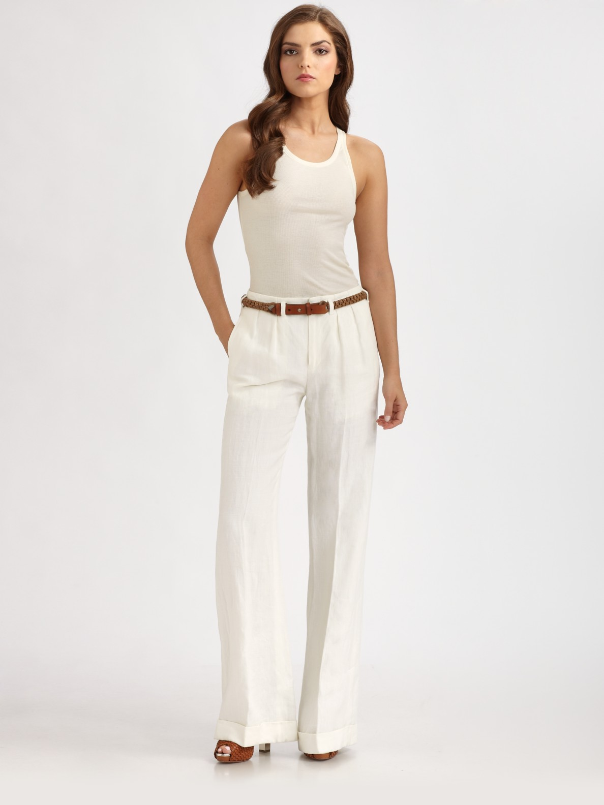 Womens White Bootcut Jeans - Jeans Am