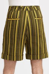 Richard Chai Striped Cuffed Shorts in Green for Men - Lyst