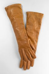 Tory Burch Elbow Length Leather Glove - Lyst
