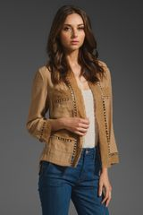 Tracy Reese Lace Edged Cardigan - Lyst