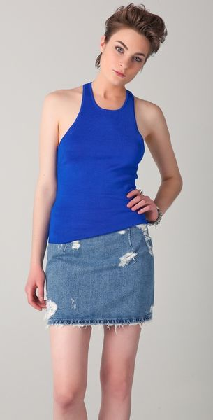 Acne Anita Underwear Tank in Blue - Lyst