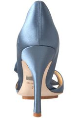 Badgley Mischka Womens Randall Opentoe Pump in Blue - Lyst