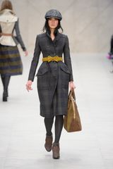Burberry Prorsum Fall 2012 Brown Suede Heeled Ankle LaceUp Boots in Brown - Lyst