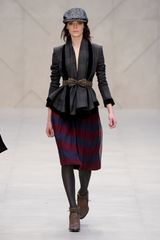 Burberry Prorsum Fall 2012 Herringbone Tweed Cap in Grey  in Gray - Lyst