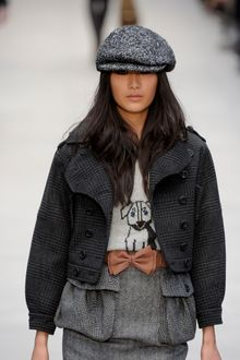 Burberry Prorsum Fall 2012 Herringbone Tweed Cap - Lyst