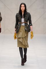 Burberry Prorsum Fall 2012 Plaid Corduroy Belted Jacket with Oversized Pockets on the Side  - Lyst
