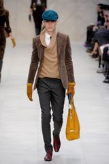 Burberry Prorsum Fall 2012 Tailored Corduroy Jacket  in Brown - Lyst