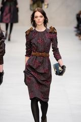 Burberry Prorsum Fall 2012 Ruched Bow Detail Belt in Brown - Lyst