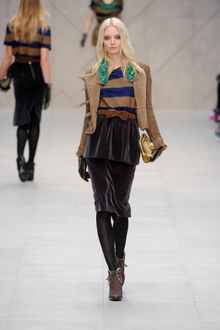 Burberry Prorsum Fall 2012 Brown Pointy Heeled Lace-Up Ankle Boots - Lyst