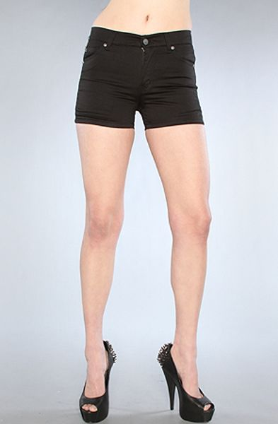 Cheap Monday The Spring Jean Short in Satin Washed Black in Black - Lyst