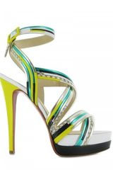 Christian Louboutin 140mm Meteorita Kid Cobra Sandals - Lyst