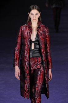 Christopher Kane Fall 2012 Long Sleeve Polyester Puffy Coat In Red - Lyst