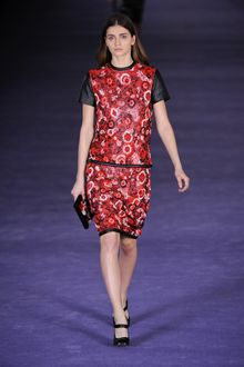 Christopher Kane Fall 2012 Floral Embroidered Leather T-shirt  - Lyst