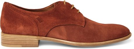 Folk Finlay Suede Derby Shoes in Red for Men - Lyst