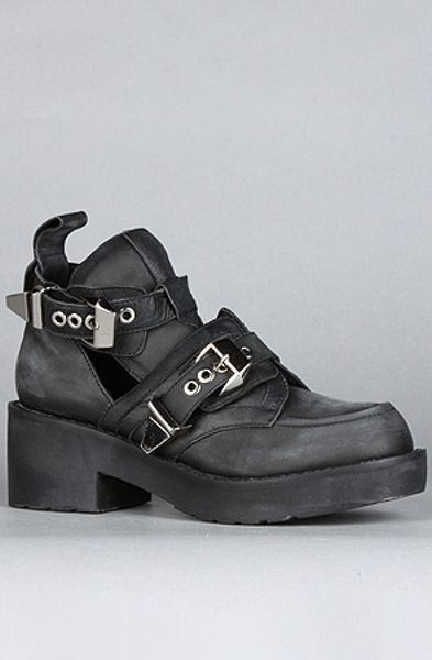 Jeffrey Campbell The Coltrane Boot in Black (distressed black)