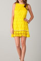 Juicy Couture Daisy Guipure Dress in Yellow - Lyst