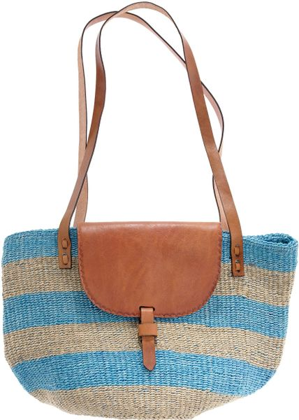Madewell Bamboula Ltd. Market Bag in Blue (blue brown) - Lyst