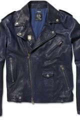 McQ by Alexander McQueen Washed-leather Biker Jacket - Lyst