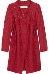 Valentino Roma Crystal-embellished Wool-blend Brocade Coat Dress - Lyst