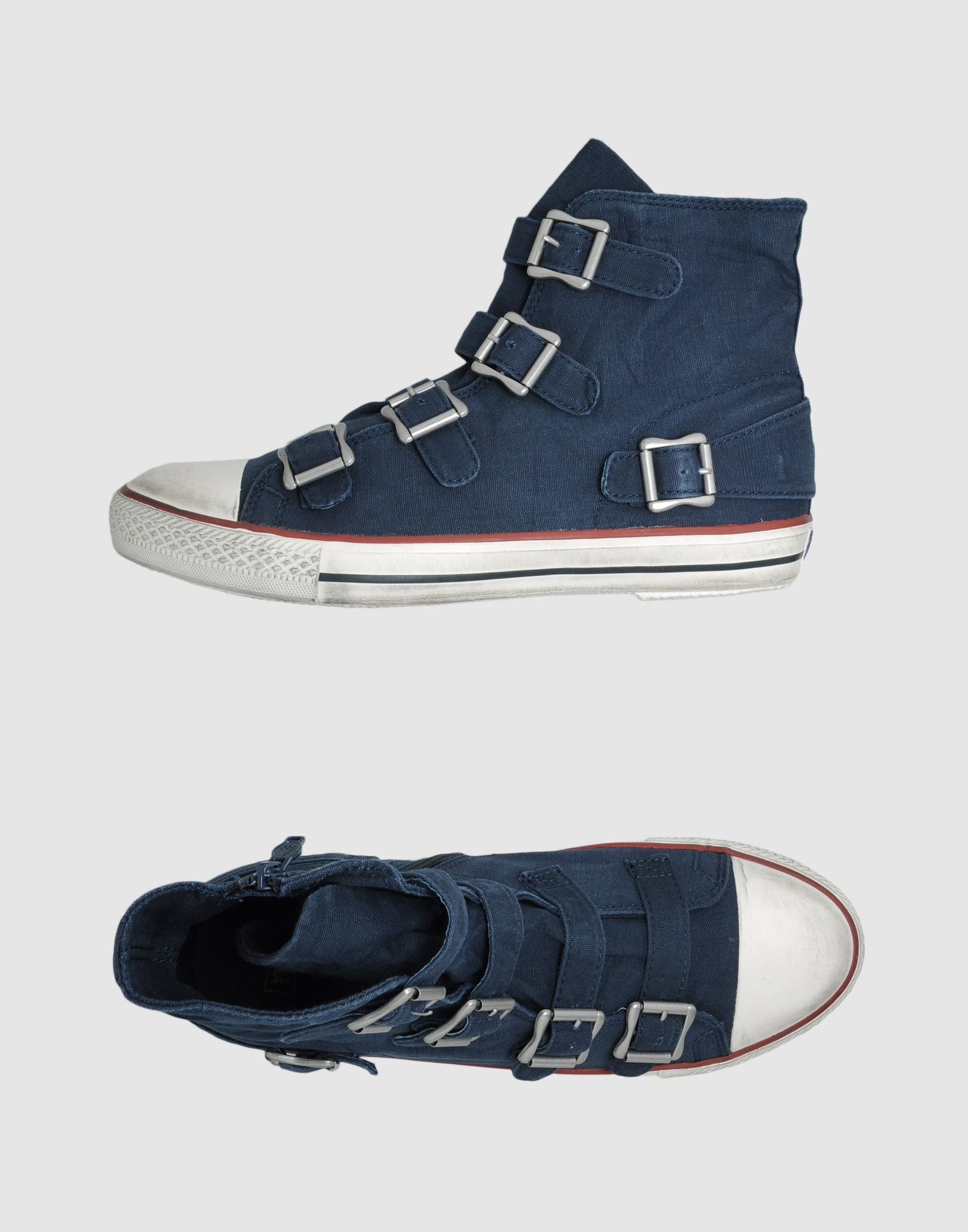 ash high top sneakers in blue for men grey lyst. Black Bedroom Furniture Sets. Home Design Ideas