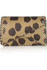 Bottega Veneta Spotted Python Clutch in Animal (sand) - Lyst