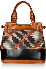 Burberry Prorsum Raffia and Leather Tote - Lyst