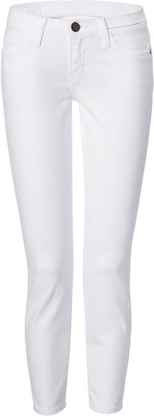 Current/elliott White Stiletto 7/8 Jeans in White - Lyst