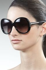 Givenchy Rounded Resin Sunglasses - Lyst
