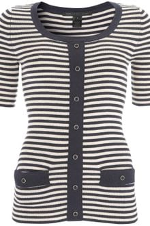Marc By Marc Jacobs Navy Stripe Short Sleeve Jumper - Lyst