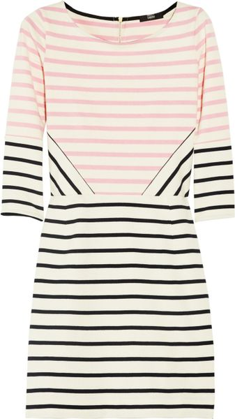 Markus Lupfer Charlotte Striped Cotton Dress in Pink