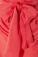 Matthew Williamson Oneshoulder Silkchiffon Dress in Red (coral) - Lyst