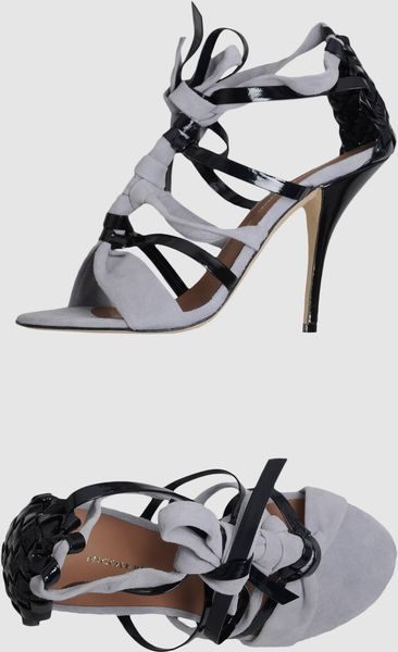 Nicole Brundage Highheeled Sandals in Gray (grey) - Lyst