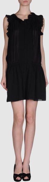 Stefanel Short Dresses in Black (brown) - Lyst