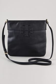 Tory Burch Stacked Logo Messenger Bag - Lyst