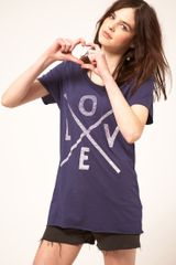 Zoe Karssen Love Cross T Shirt in Purple (navy) - Lyst