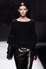 Alberta Ferretti Fall 2012 Leather Pencil Skirt  in Black - Lyst