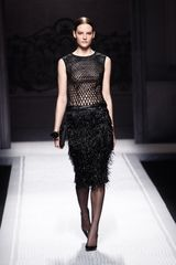 Alberta Ferretti Fall 2012 Knee Length Flapper Skirt  in Black - Lyst